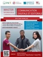 Bourses Master Information et Communication spécialité Communication Digitale et Éditoriale promotion 1 (2019-2020)