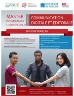 Avis de recrutement et de bourse Master mention Information et Communication (Troisième session 2019)