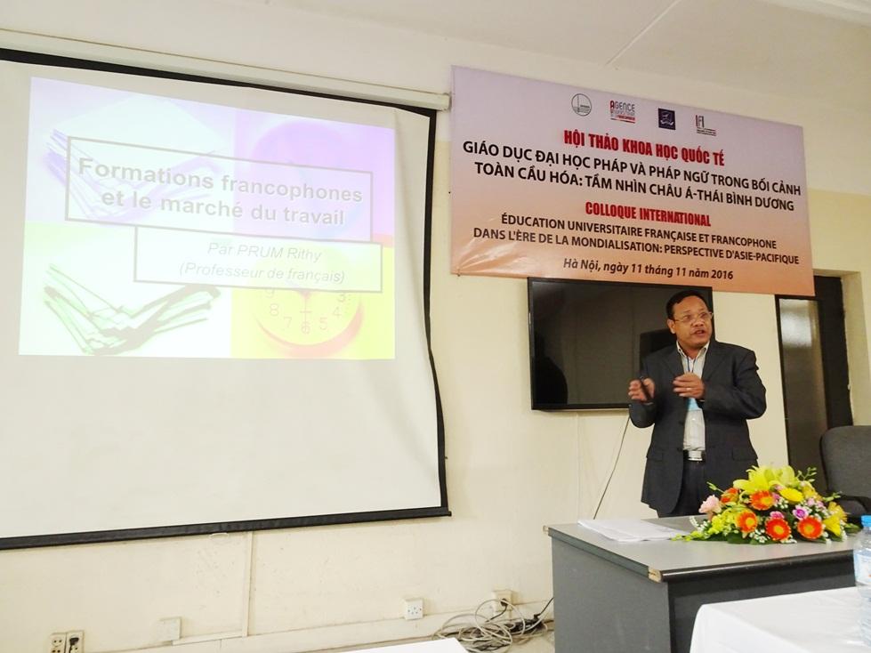 Ông Rithy Prum - Giảng viên tiếng Pháp tại Học viện Công nghệ Campuchia