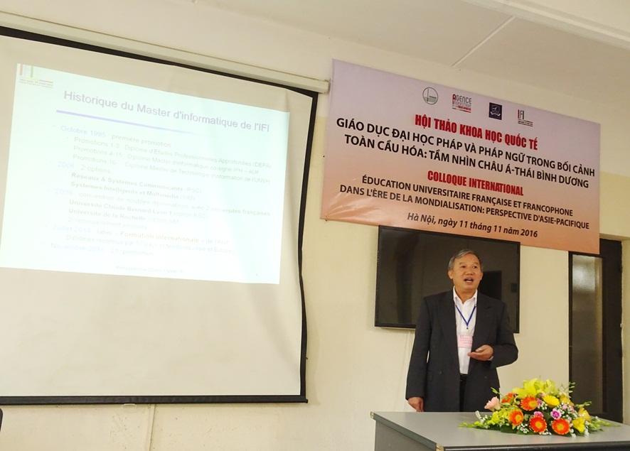 Thày Nguyễn Hồng Quang - Viện Quốc tế Pháp ngữ