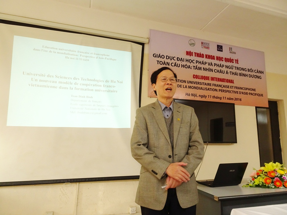 Thày Trần Đình Bình - Đại học USTH trình bày mô hình hợp tác Việt-Pháp mới trong giảng dạy đại học