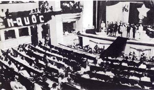 Kỳ họp đầu tiên Quốc hội khóa I họp tại Nhà hát lớn Hà Nội